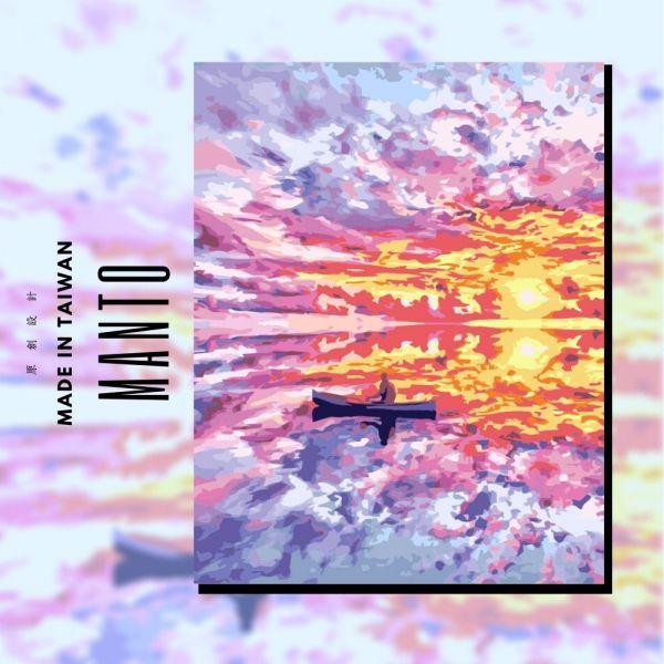夕陽航歌|MANTO創意數字油畫(4050M) 夕陽航歌,風景畫,數字油畫,manto,數字畫