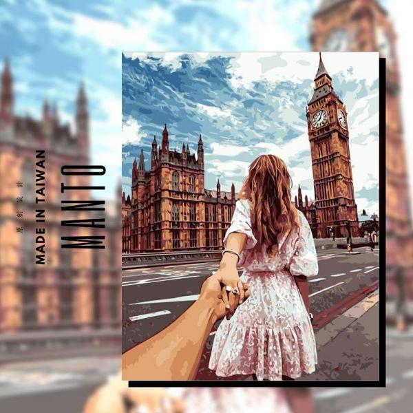 牽手倫敦|MANTO創意數字油畫(4050M) 倫敦,風景畫,數字油畫,manto,數字畫