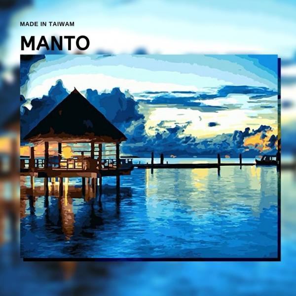 馬爾地夫水上屋|MANTO創意數字油畫(4050M) 馬爾地夫,水上屋,風景畫,數字油畫,manto,台灣數字油畫,數字油畫批發,倫敦