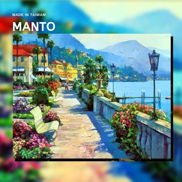 摩納哥街道|MANTO創意數字油畫(4050) 摩納哥,風景畫,數字油畫,manto,數字畫