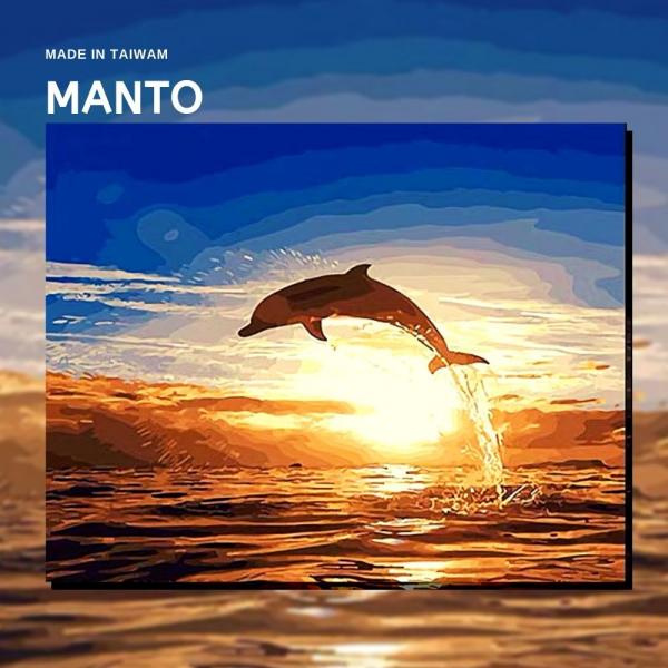 跳躍海豚|MANTO創意數字油畫(4050M) 海豚,數字油畫,manto,台灣數字油畫,數字油畫批發,倫敦