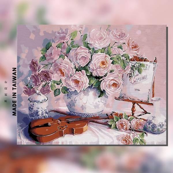 知音玫瑰 |MANTO創意數字油畫(4050M) 花卉,花田,數字油畫,manto,台灣數字油畫,數字油畫批發,數字油畫團購
