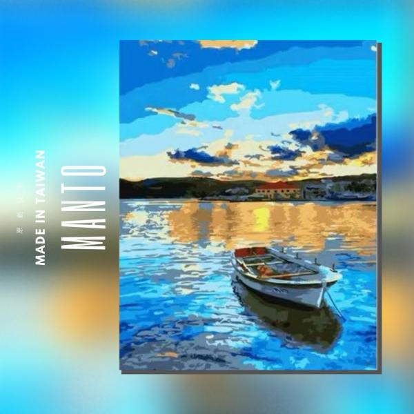 夕陽閒情 |MANTO創意數字油畫(4050M) 風景畫,花田,數字油畫,manto,台灣數字油畫,數字油畫批發,數字油畫團購