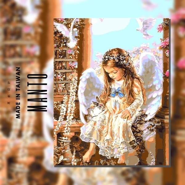 天使之約|MANTO創意數字油畫(4050M) 天使,天使畫,數字油畫,manto,台灣數字油畫,數字油畫批發,倫敦