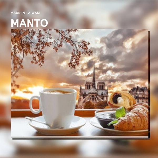 悠閒晨光|MANTO創意數字油畫(4050M) 悠閒晨光,咖啡,數字油畫,manto,台灣數字油畫,數字油畫批發,倫敦
