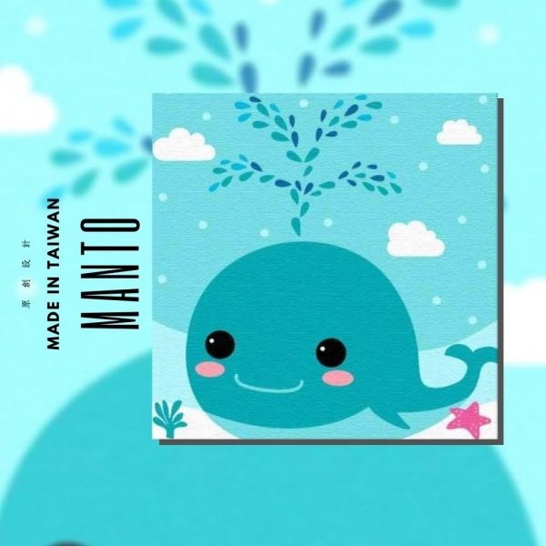 開心鯨魚 MANTO創意數字油畫(3030) 鯨魚,動物畫,MANTO,數字油畫,manto,台灣數字油畫,數字油畫批發,數字油畫團購