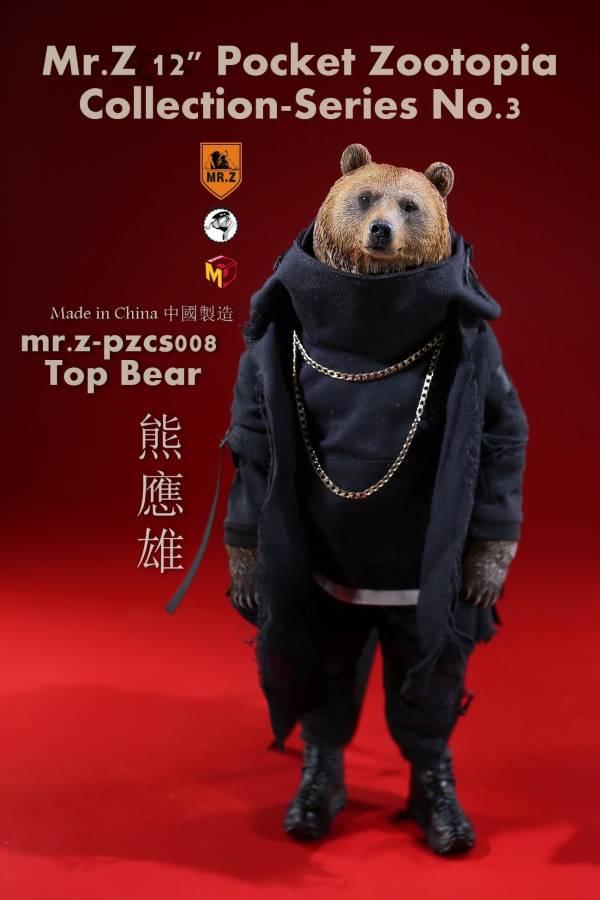 Mr.Z / 口袋動物城 第3彈 / 熊應雄 12吋可動公仔 Mr.Z,口袋動物城,第3彈,熊應雄,12吋,可動公仔