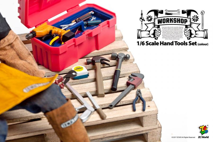 ZCWO 1/6 工具箱組 Hand Tools Set Colour ZCWO,1/6,工具箱組,Hand Tools Set mono