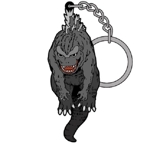 COSPA 初代哥吉拉 捏握造型 鑰匙圈吊飾 COSPA,初代哥吉拉,鑰匙圈吊飾