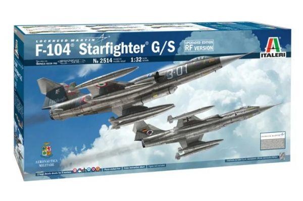 ITALERI 義大利模型 1/32 2514 F-104 STARFIGHTER G/S 組裝模型 ITALERI,義大利模型,1/32,2514,F-104,STARFIGHTER G/S,組裝模型