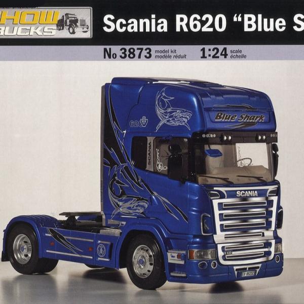 ITALERI 義大利模型 1/24 NO.3873 SCANIA R620 BLUE SHARK KIT 組裝模型 ITALERI,義大利模型,1/24,NO.3873,SCANIA R620 BLUE SHARK KIT,組裝模型
