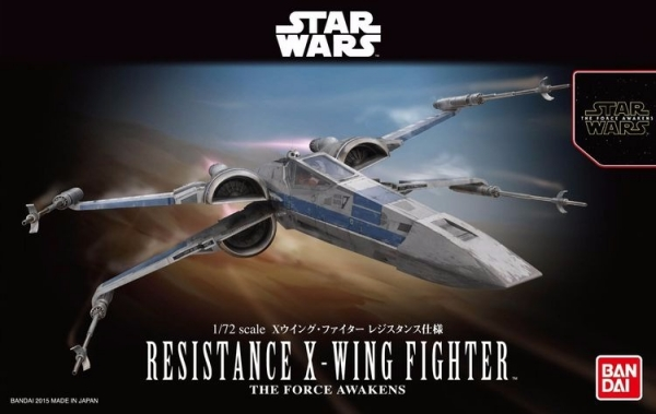 1/72 星際大戰 STAR WARS 原力覺醒 X戰機 X-WING 攔截機