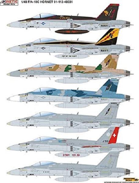 KINETIC 1/48 F/A-18C 大黃蜂戰機 組裝模型 KINETIC, 1/48, F/A-18C, 大黃蜂戰機, 組裝模型