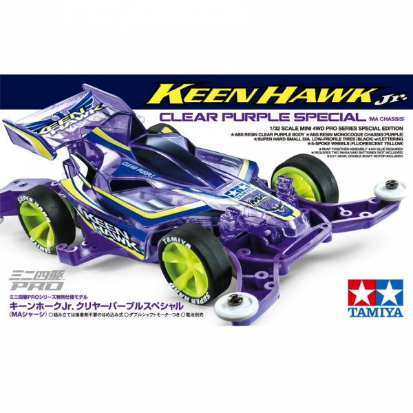 TAMIYA 田宮1/32 迷你四驅車 #95399 銳鷹 Keen Hawk Jr. Clear Purple Special 透明紫色版 MA底盤 TAMIYA, 田宮,1/32, 迷你四驅車,95399, 銳鷹, Keen Hawk Jr., Clear Purple, 透明紫色, MA底盤