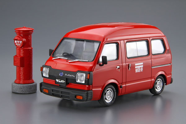 AOSHIMA 1/24 速霸陸K88 SAMBAR HIGH-ROOF 4WD '80 郵便配達車 組裝模型 AOSHIMA,124,速霸陸K88,SAMBAR,HIGHROOF,4WD 80 郵便配達車,組裝模型