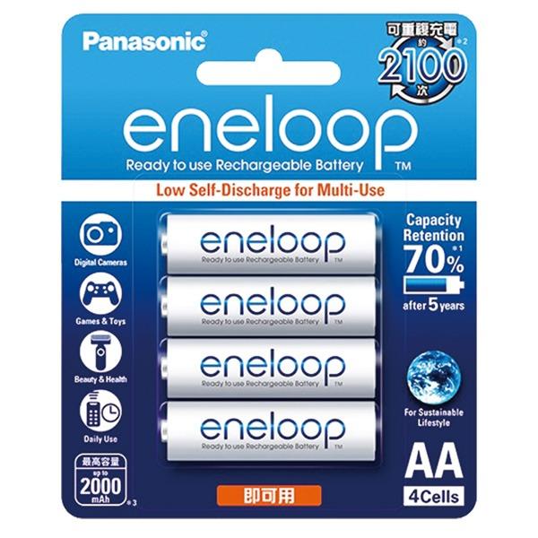 Panasonic eneloop / 充電池白3號4入1900mah BK-3MCCE4BTW Panasonic eneloop,充電池白3號,BK-3MCCE4BTW