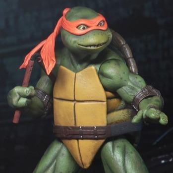 NECA 忍者龜 米開朗基羅 1990電影版  7吋可動公仔 TMNT 1990 Movie NECA,忍者龜,米開朗基羅,1990電影版,TMNT 1990 Movie