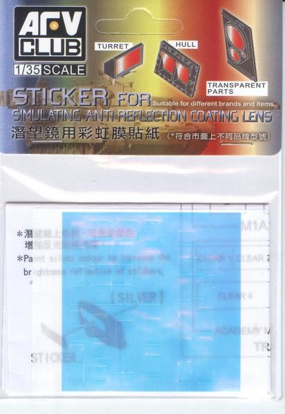 AFV CLUB 戰鷹模型 1/35 M1A1/M1A2潛望鏡用彩虹膜貼紙 質感升級配件 組裝模型 AFV CLUB, 戰鷹模型, 1/35, M1A1/M1A2潛望鏡用彩虹膜貼紙, 質感升級配件, 組裝模型