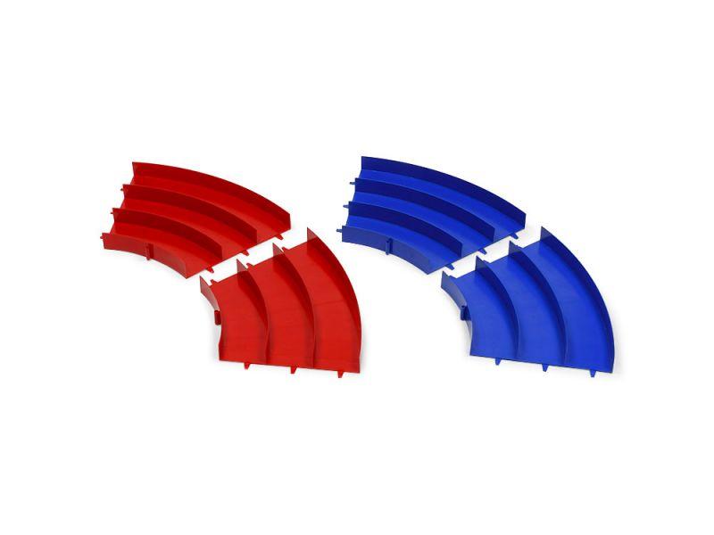 TAMIYA 田宮 #69573 迷你四驅車 四驅車專用 三軌彎道組 紅藍各2入 田宮,四驅車,軌道車,TAMIYA, 三軌, 彎道, 紅, 藍, 69573