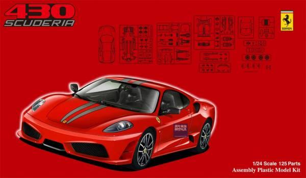 1/24 Ferrari F430 Scuderia FUJIMI RS55 富士美 組裝模型 FUJIMI,1/24,RS,Ferrari,F430,Scuderia,組裝模型