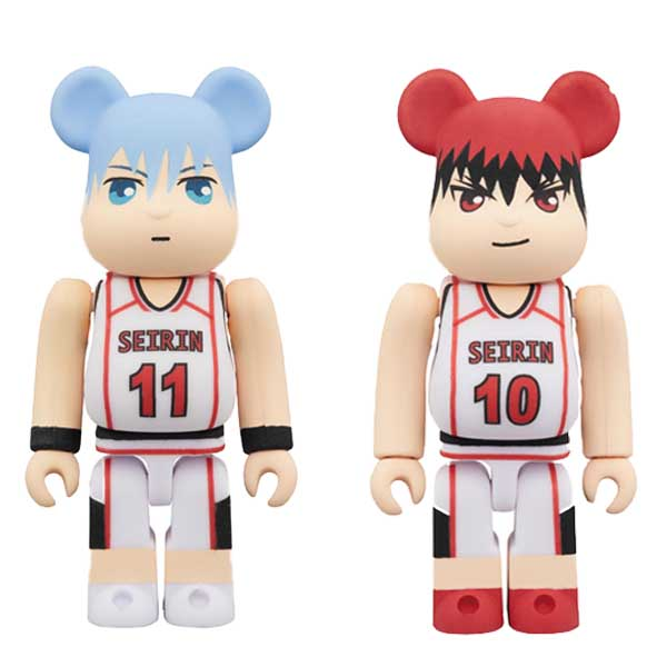 Medicom Toy / BE@RBRICK 庫柏力克熊 / 黑子的籃球 / 兩款 個別分售 Medicom Toy,BE@RBRICK,庫柏力克熊,黑子的籃球,黑子哲也,火神大我