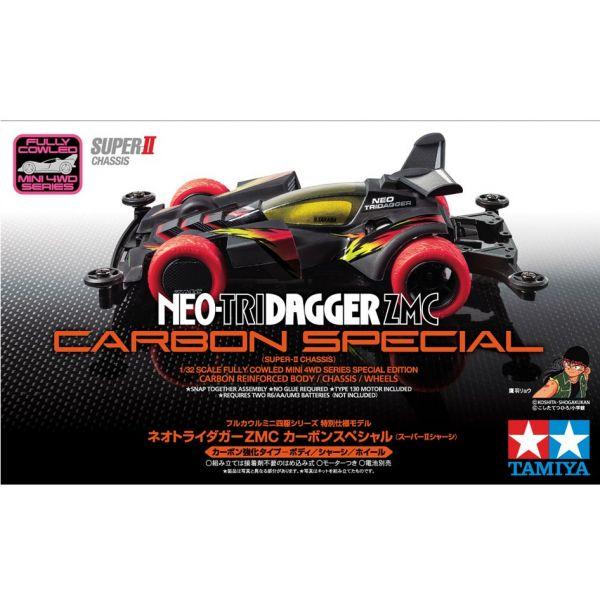 TAMIYA 田宮 1/32 #95508 迷你四驅車 軌道車 Neo-Tri Dagger ZMC Carbon Special Super II底盤  TAMIYA, 田宮, 1/32,95508, 迷你四驅車, 軌道車, 四驅車, Neo-Tri Dagger ZMC, Super II底盤