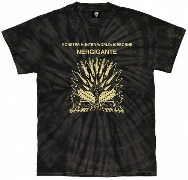 CAPCOM / 魔物獵人世界:Iceborne / 滅盡龍 紮染短袖T恤 CAPCOM,魔物獵人世界:Iceborne,滅盡龍,紮染,短袖T恤