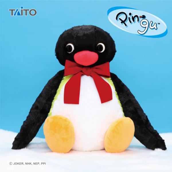 TAITO 景品 企鵝家族 Pingu 領結 特大尺寸 蓬鬆坐姿玩偶 TAITO,景品,企鵝家族,Pingu,領結,特大尺寸,蓬鬆,坐姿玩偶