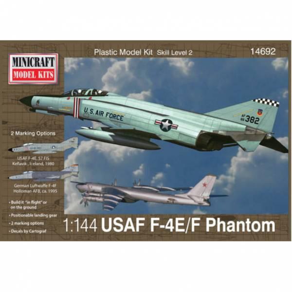 Minicraft 1/144 美國空軍 F-4E/F Phantom 幽靈戰鬥機 組裝模型  Minicraft,1/144,MC14692,美國空軍,F-4E/F Phantom,戰鬥機