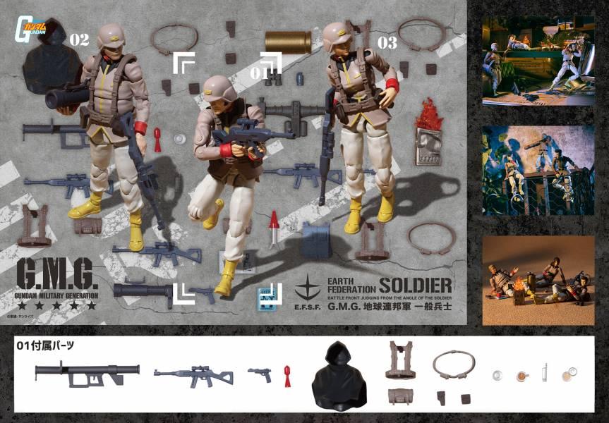 MEGAHOUSE G.M.G. 機動戰士鋼彈 地球連邦軍 一般士兵01 MEGAHOUSE G.M.G. 機動戰士鋼彈 地球連邦軍 一般士兵01