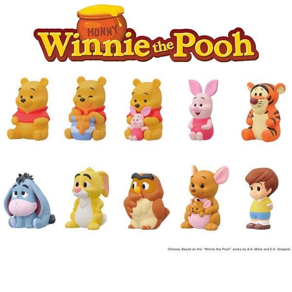 ENSKY / 小熊維尼 角色軟膠公仔 / 全10種 / 一中盒10入販售 / *10 ENSKY,小熊維尼,Winnie the Pooh,角色軟膠公仔