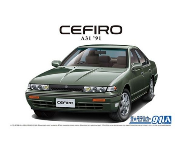 AOSHIMA 1/24  #91 日產Cefiro A31 '91 組裝模型 AOSHIMA,124,91,日產,Cefiro,A31,91,組裝模型,