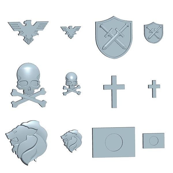 MSG 擴充武裝零件 P-150 徽章標誌組