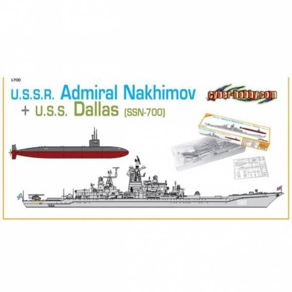 DRAGON 1/700 7112 Nakhimov海軍上將+達拉斯號攻擊潛艦SSN-700 組裝模型 DRAGON,1/700,7112,Nakhimov,海軍上將,+,達拉斯號攻擊潛艦SSN-700,組裝模型,