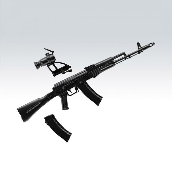 Tomytec 1/12 迷你武裝 LA060 AK74M型 突擊步槍 組裝模型 TOMYTEC,迷你武裝,1/12,迷你武裝,LA060,AK74M型,突擊步槍