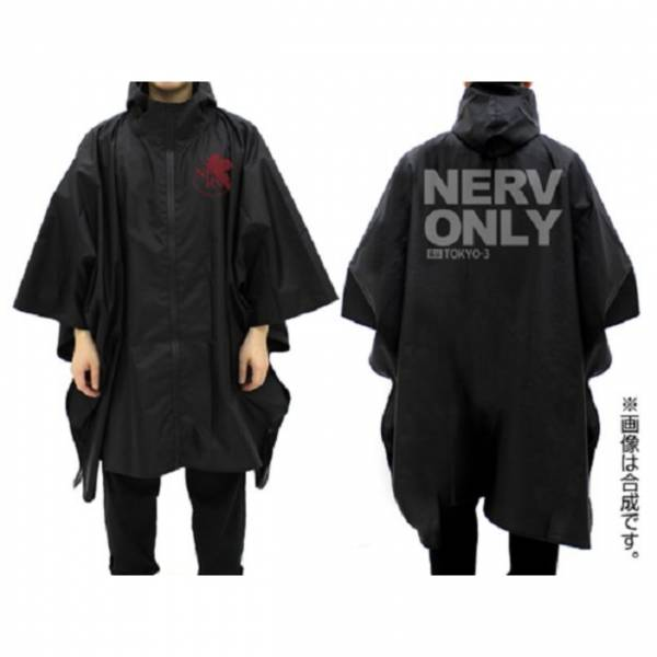 COSPA 新世紀福音戰士 NERV 防水式斗篷雨衣 黑色 COSPA,新世紀福音戰士, NERV,斗篷雨衣