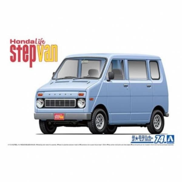 AOSHIMA 1/20  #74 本田VA Life Step Van '74 組裝模型 AOSHIMA,120,74,本田VA,Life Step,Van,74,組裝模型,