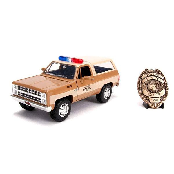 [限量授權生產] JADA / 1/24 / 怪奇物語 / 哈普 Chevy Blazer 1980 合金車 含警徽 JADA,1/24,怪奇物語,哈普,Chevy Blazer 1980,合金車,警徽