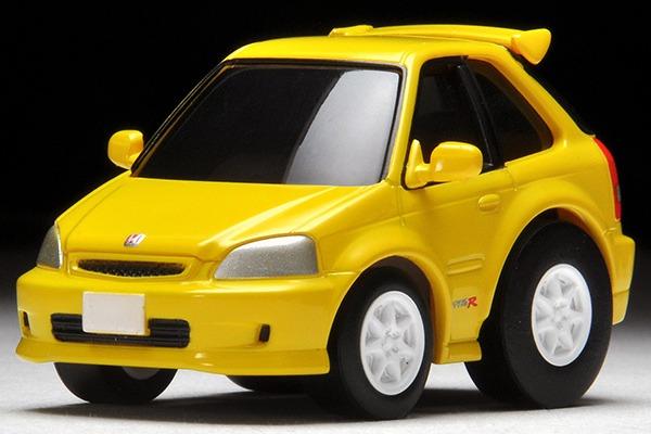 TOMYTEC / Q ZERO 迴力賽車 / Z-62b / 本田 HONDA Civic Type R(EK9) 黃 TOMYTEC,Q ZERO,迴力賽車,Z-62b,本田,HONDA Civic Type R(EK9)