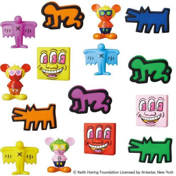 Medicom Toy VCD 凱斯·哈林 作品 MINI立體化收集P2 一中盒15入販售 Medicom Toy,VCD,凱斯·哈林,作品,MINI立體化收集P2