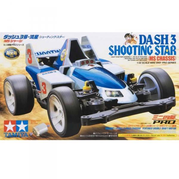 TAMIYA 田宮1/32 迷你四驅車 軌道車 #18630 Dash-3 Shooting Star 流星 MS 底盤 TAMIYA,田宮,1/32,四驅車,軌道車,18630,Dash-3, shooting star, MS底盤, 流星