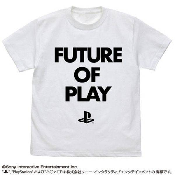 COSPA / Sony PlayStation PS / FUTURE OF PLAY字樣 / 短袖T恤 / 白色 / M號 COSPA,Sony PlayStation,FUTURE OF PLAY字樣,短袖T恤白色