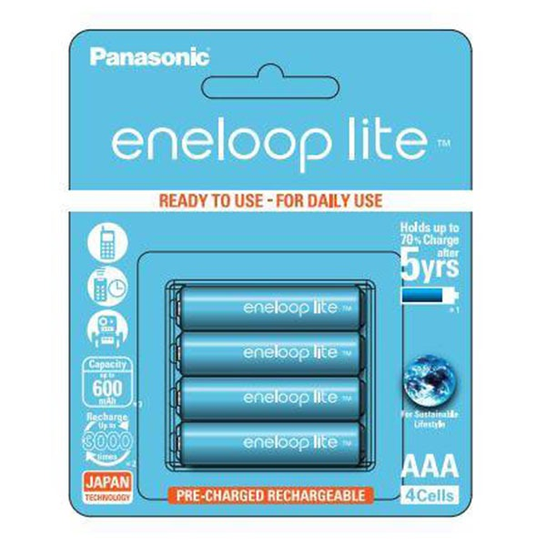 Panasonic eneloop / 充電池水藍4號4入600mah BK-4LCCE/4BT Panasonic eneloop,充電池水藍4號4入,600mah,BK-4LCCE/4BT