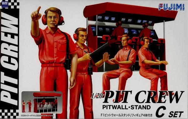 1/20 F-1 PITWALL STAND 無線電通訊站 FUJIMI GT25 富士美 組裝模型 FUJIMI,1/20,PIT,CREW,GP,F1,
