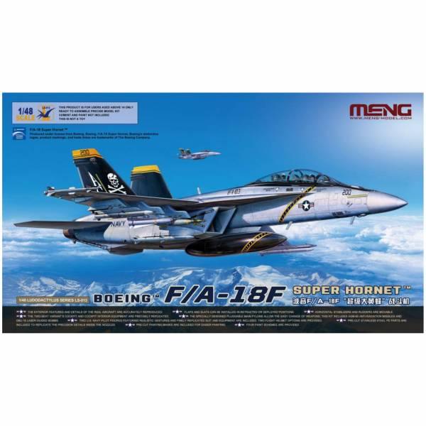 MENG 1/48 波音F/A-18F 超級大黄蜂 戰鬥機 LS-013 組裝模型 MENG,1/48,波音F/A-18F,超級大黄蜂,戰鬥機,LS-013,組裝模型,