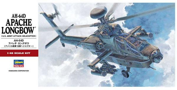 Hasegawa 1/48 AH-64D 長弓阿帕契直升機 組裝模型 Hasegawa,1/48,AH-64D,長弓阿帕契,直升機
