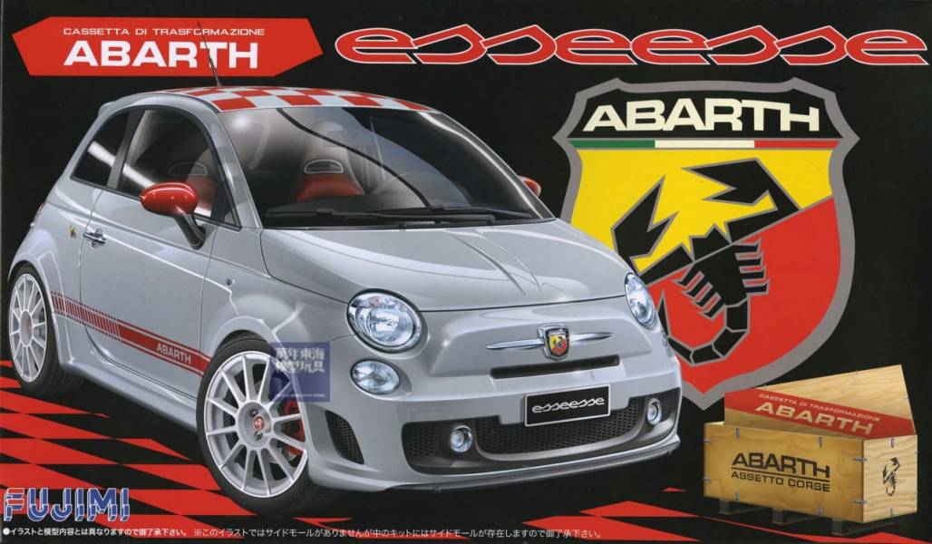 1/24 ABARTH 500 ESSEESE FUJIMI RS82 富士美 組裝模型 FUJIMI,1/24,GT,RS,ABARTH,500,ESSEESE,