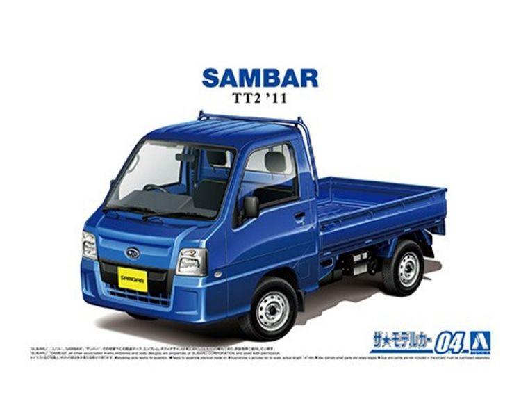 AOSHIMA 1/24 #4 速霸陸 TT1 Sambar卡車 WR藍色限量版 '11 組裝模型 AOSHIMA,1/24,#4,速霸陸,TT1,Sambar,卡車,WR,藍色,限量,版,',11,組裝,模型,