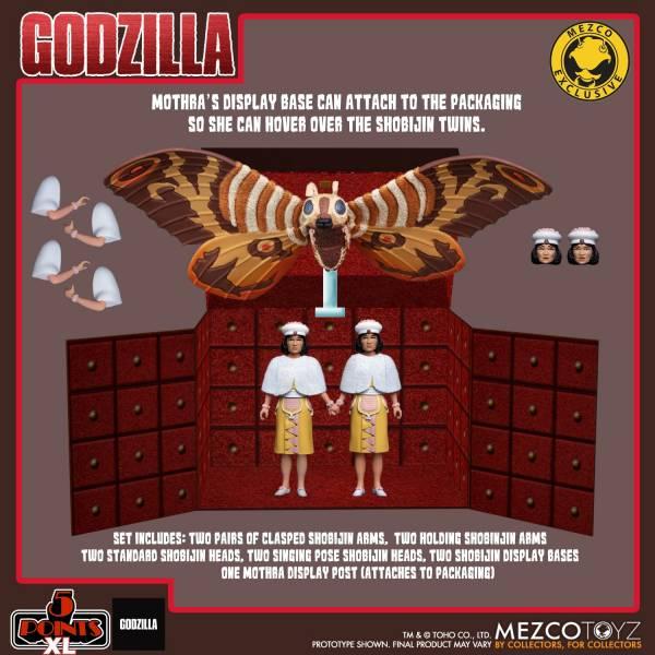MEZCO TOYZ 5 Points XL 摩斯拉對哥吉拉1964 摩斯拉&小美人雙胞胎 寶箱組    MEZCO TOYZ,5 Points XL,摩斯拉對哥吉拉,1964,摩斯拉,&,小美人雙胞胎,寶箱組,