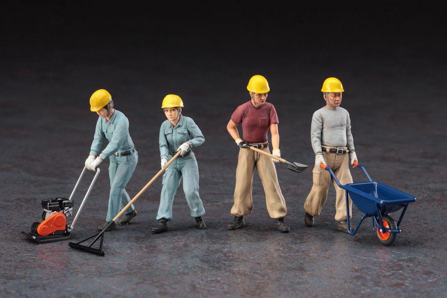 HASEGAWA 1/35 建設作業員 A set 組裝模型 HASEGAWA,長谷川,1/35,建設作業員 A set,組裝模型